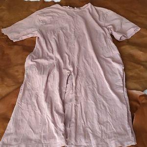 Zara Jersey Knit Short Sleeve Slit Midi Dress
